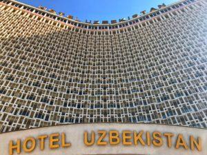 Il Viaggiatore Magazine - Facciata hotel Uzbekistan - Tashkent, Uzbekistan