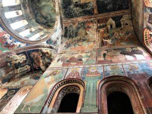 Il Viaggiatore Magazine - affreschi del Monastero Gelati - Georgia