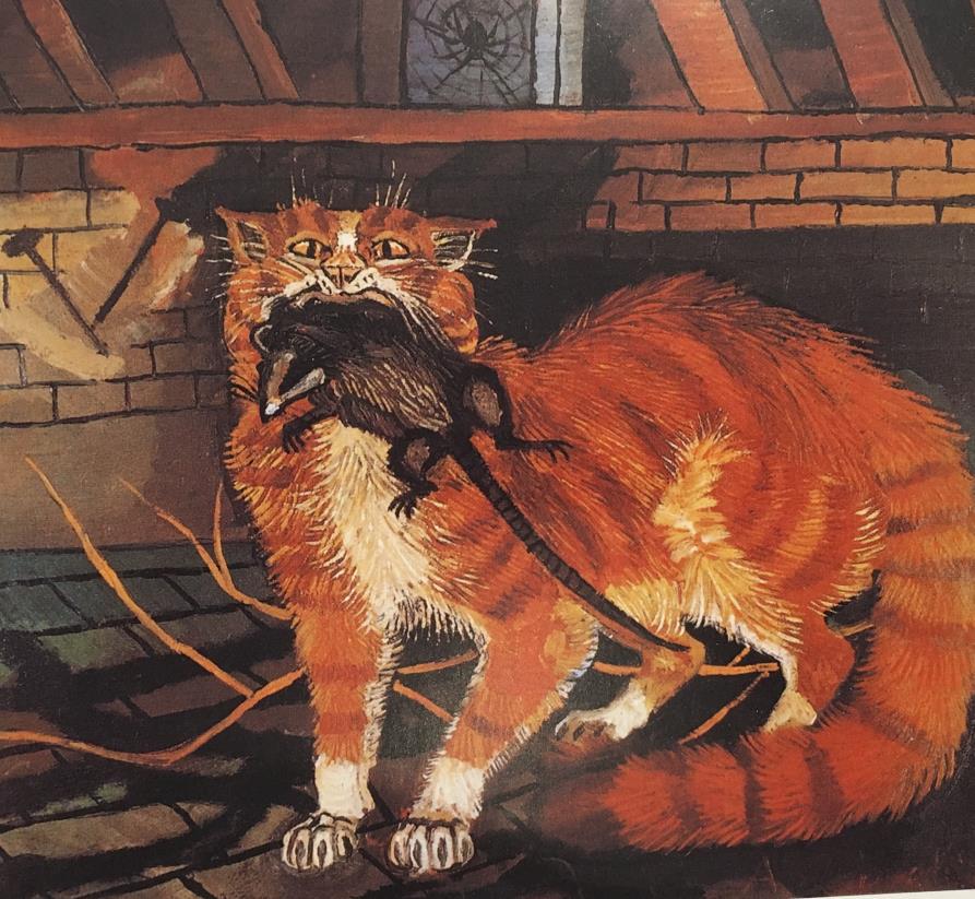 IlViaggiatoreMagazine-Gatto con topo in bocca - Il Viaggiatore-Magazine