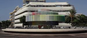 Dizengoff Square Fountai-Edificio Bauhaus-Tel Aviv-Israele