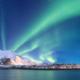 Aurora boreale da una nave Hurtigruten-Norvegia
