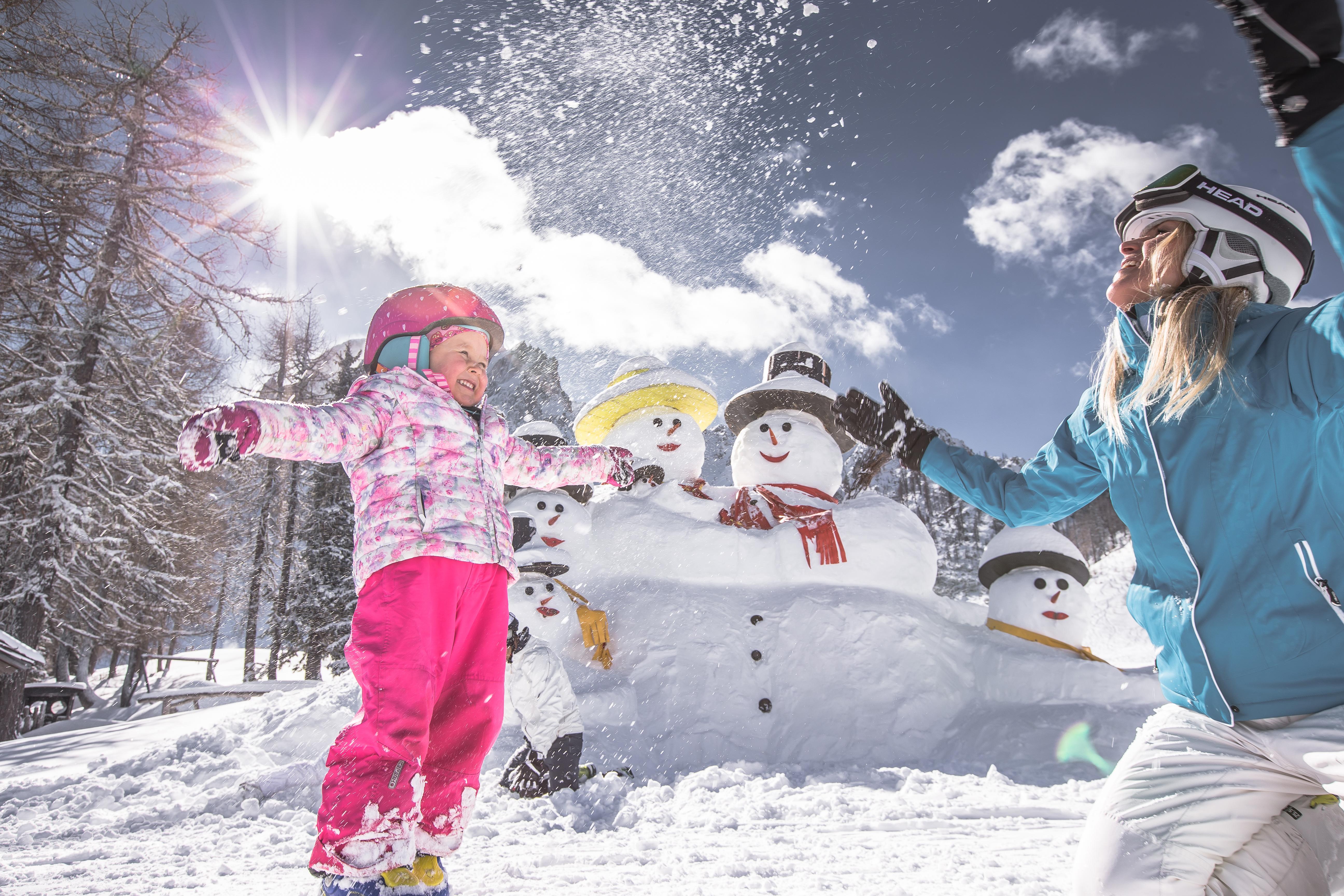 Famiglia sui campi da sci-San Candido-Bolzano