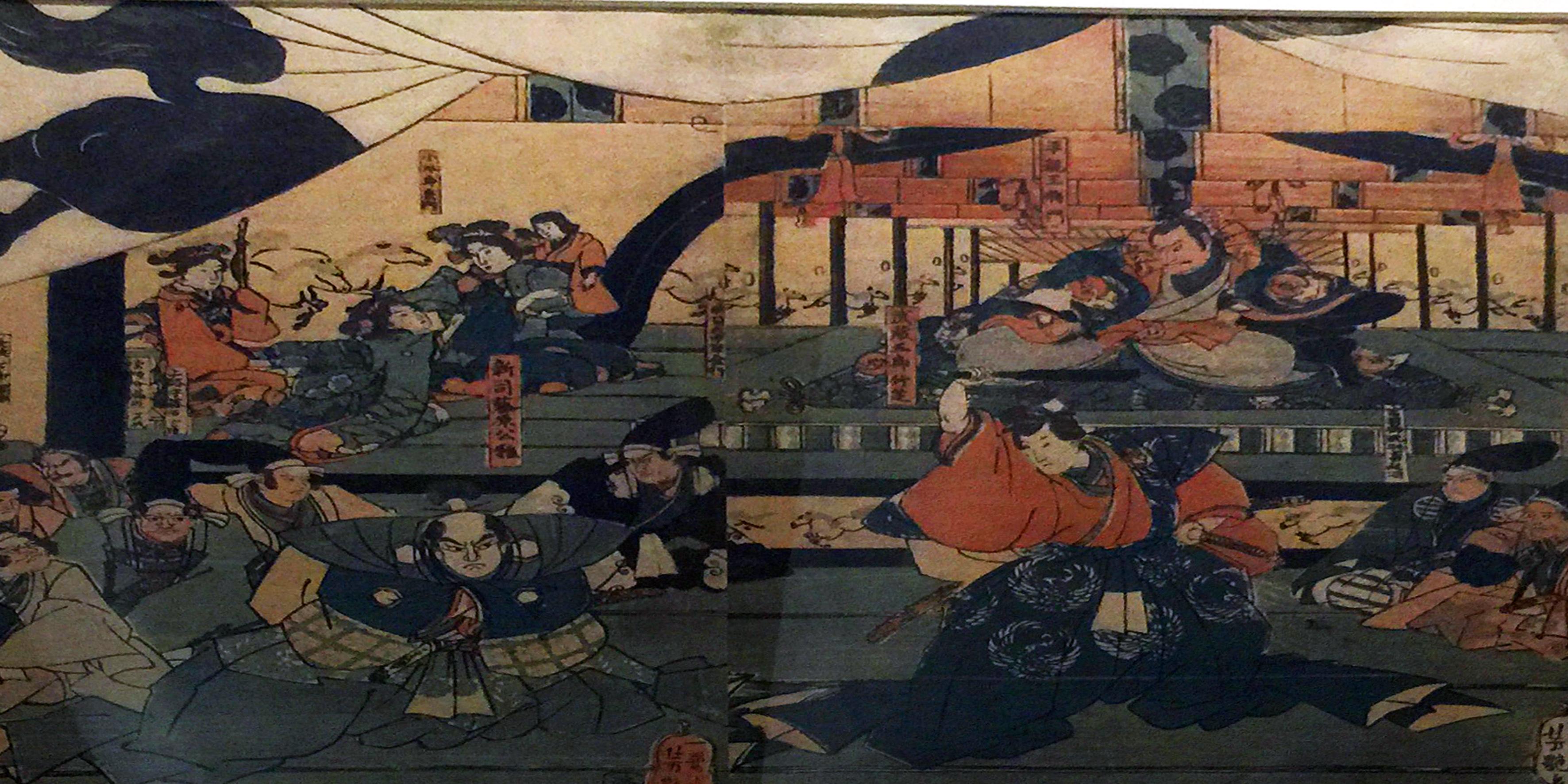 Scena teatrale-1850-Xilografia policroma su carta di gelso-Koku-Yoshitsuya-Arte giapponese