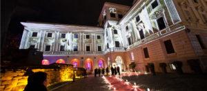 Palazzo Montemartini-Veduta notturna esterna-Roma