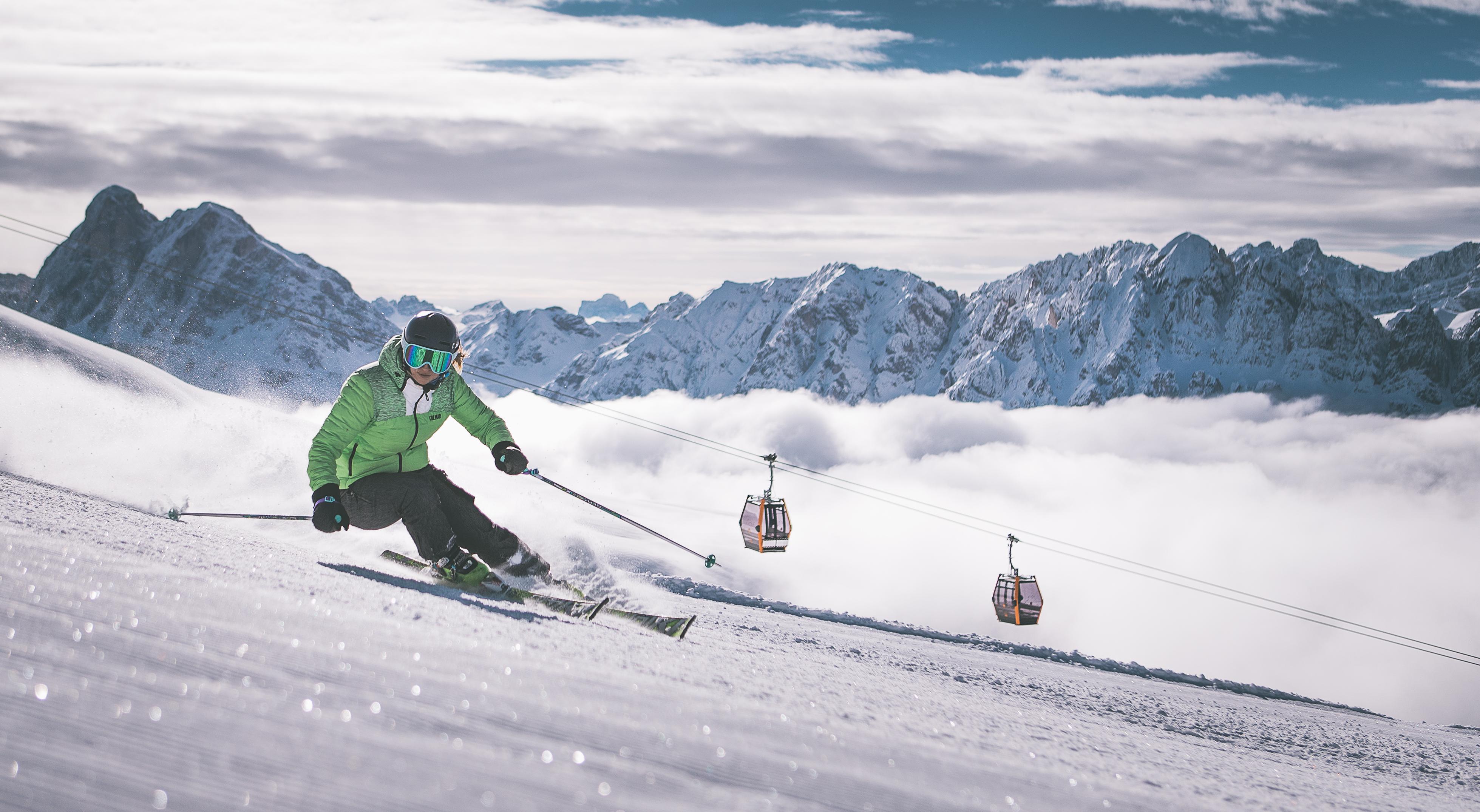 Sciatrice sulla Plose-Bressanone-Bolzano