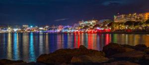 Croisette di notte-Cannes-Francia