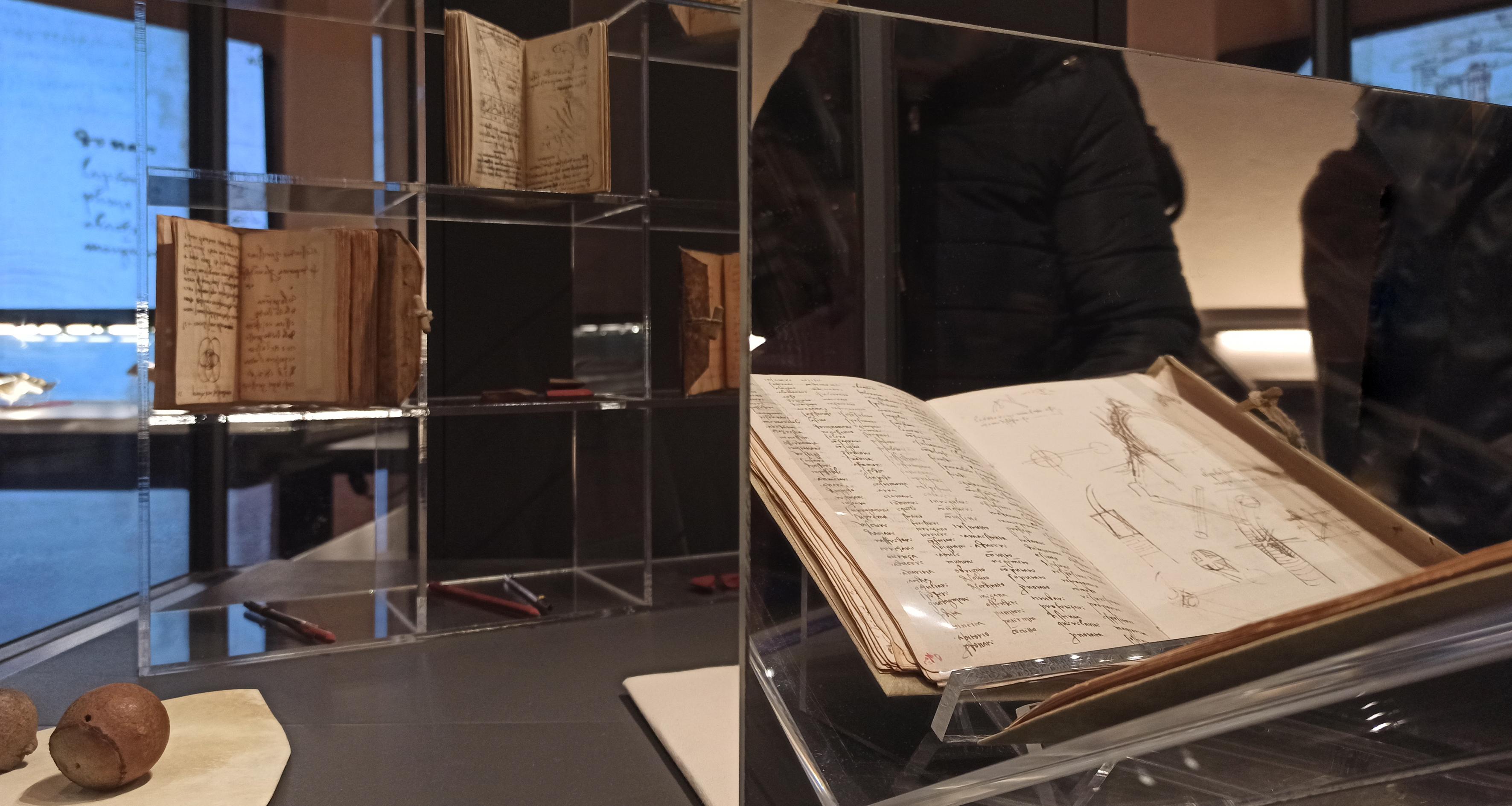 La scrittura di Leonardo vista allo specchio