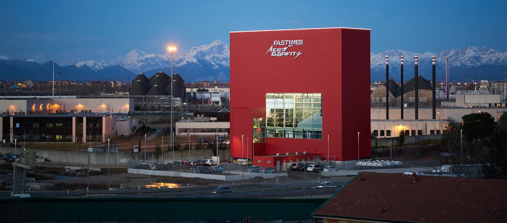 Edifico di Aerogravity vicino Milano Expo