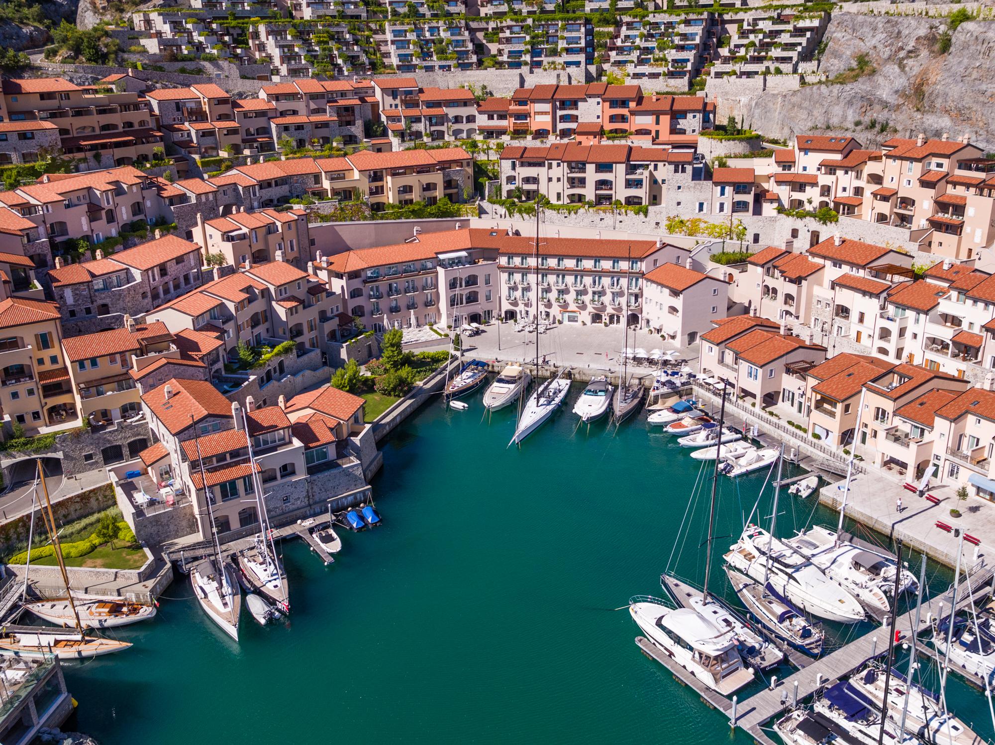 Vista del Borgo-Portopiccolo-Trieste