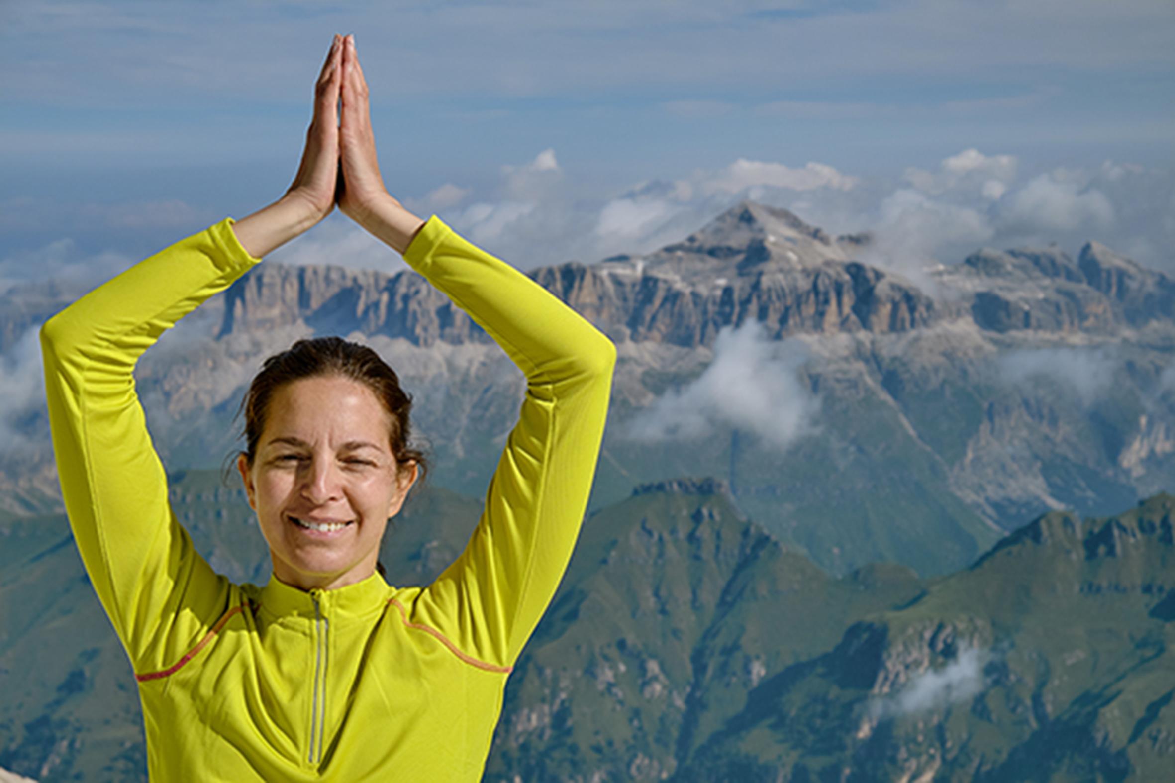 Yoga e meditazione in vacanza in Marmolada - Foto Flavio Alberti