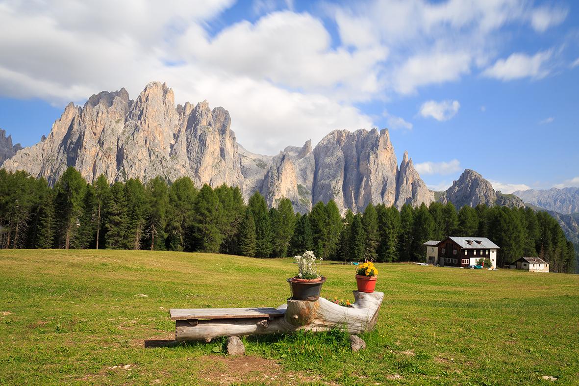 Vista sul Catinaccio - Val di Fassa - Foto Danilo Marabini