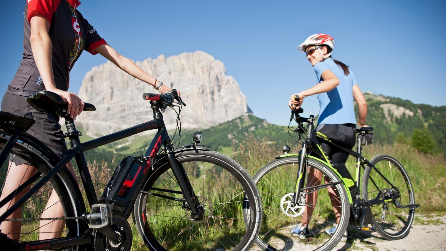 Val Gardena in e-bike